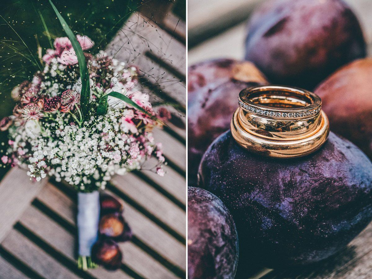 Brautstrauss und Eheringe