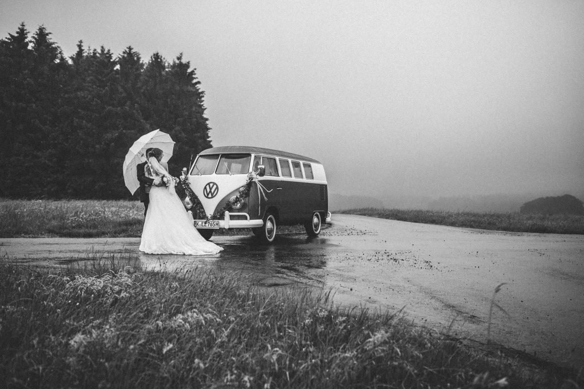 Hochzeitsreportage im Regen