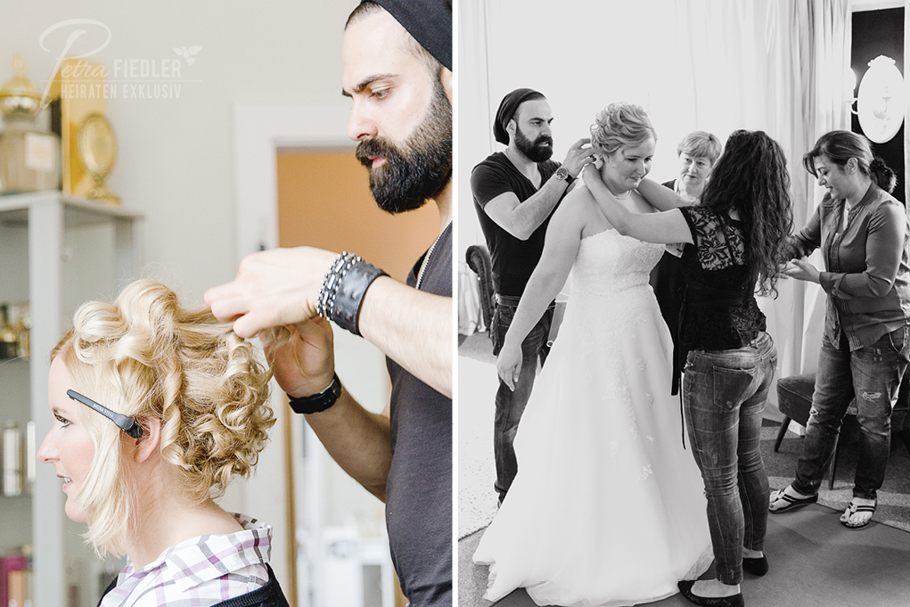 Brautstyling bei Marie Amour