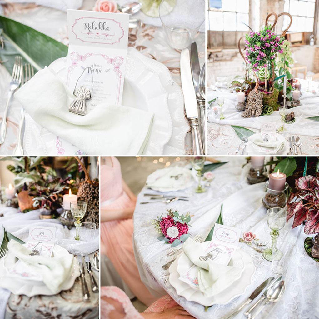 Hochzeitstisch vintage