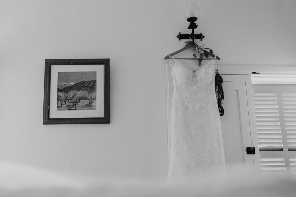 Brautkleid in der Finca